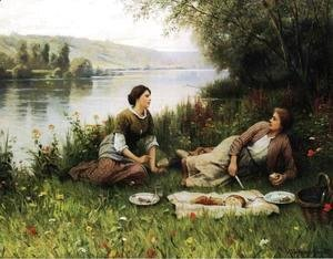 Daniel Ridgway Knight - Normandy Garden (or Le Gouter)