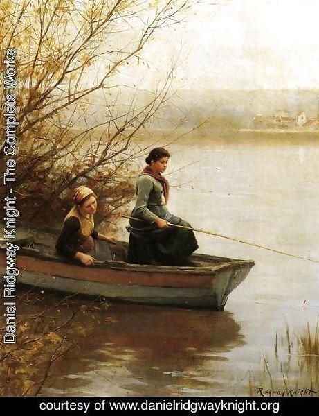 Daniel Ridgway Knight - Fishing