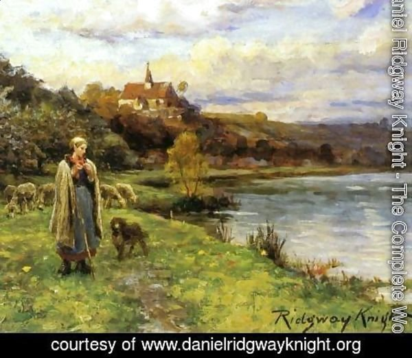 Daniel Ridgway Knight - Woman by the Water