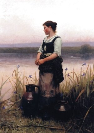 Daniel Ridgway Knight - Far Away Thoughts