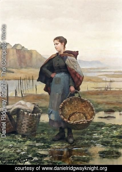 Daniel Ridgway Knight - The Young Laundress