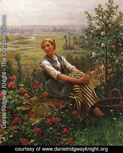 Daniel Ridgway Knight - Woman at Rest