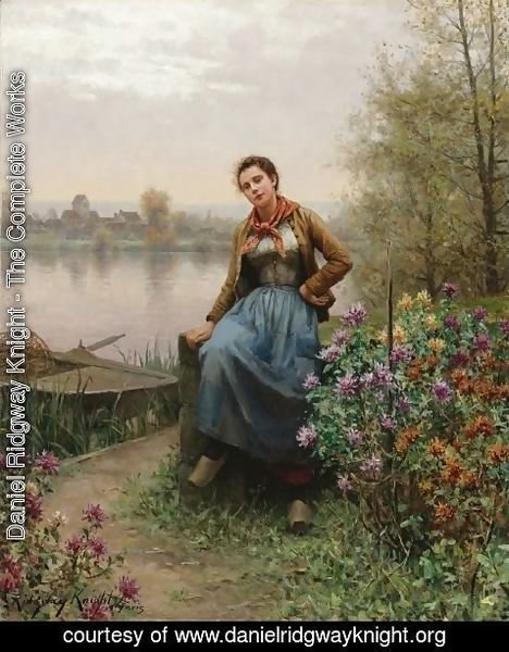 Daniel Ridgway Knight - On the River's Edge