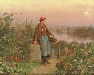 Daniel Ridgway Knight - A Thoughtful Moment