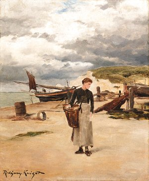 Daniel Ridgway Knight - At Etretat