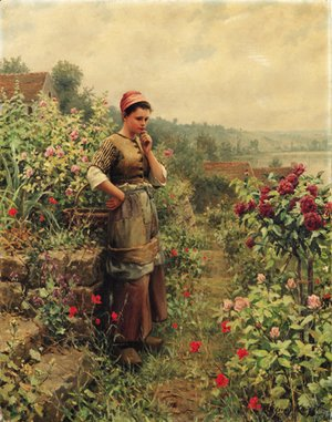 Daniel Ridgway Knight - In a Normandy Garden