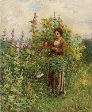 Daniel Ridgway Knight - In the Flower Garden