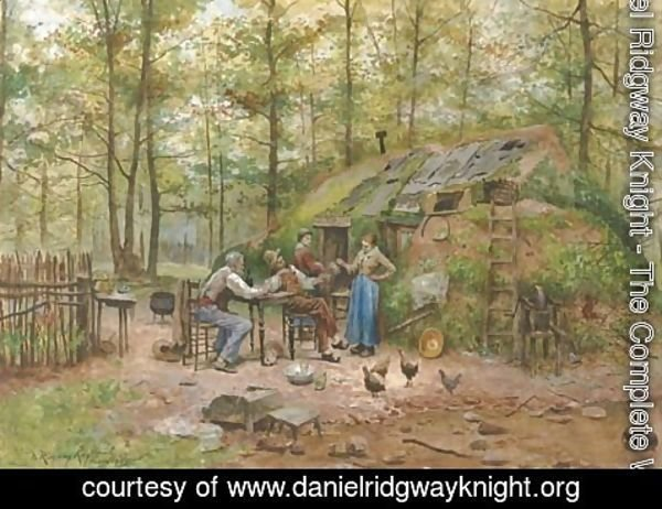Daniel Ridgway Knight - Preparing the Meal