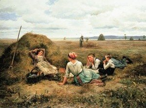 Daniel Ridgway Knight - The Harvesters Resting 2
