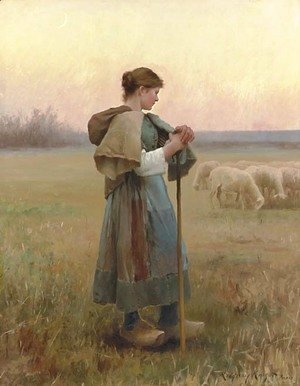 Daniel Ridgway Knight - The Young Shepherdess
