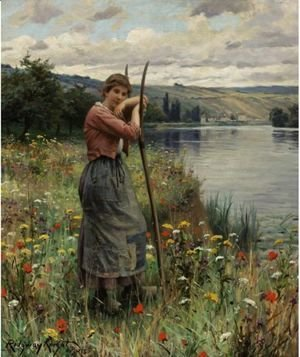 Daniel Ridgway Knight - A Moment Of Repose