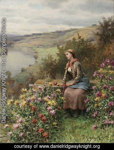 Daniel Ridgway Knight - Daydreaming 2