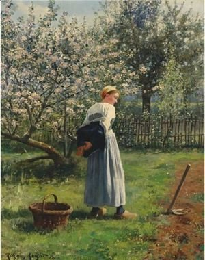 Daniel Ridgway Knight - In The Orchard