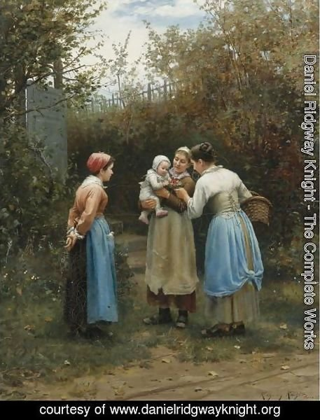 Daniel Ridgway Knight - Morning Greeting