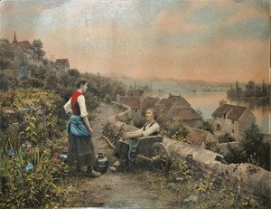 Daniel Ridgway Knight - Peasant Girls Along The Seine