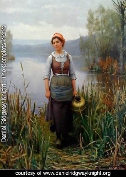 Daniel Ridgway Knight - Early Morning on the Oize
