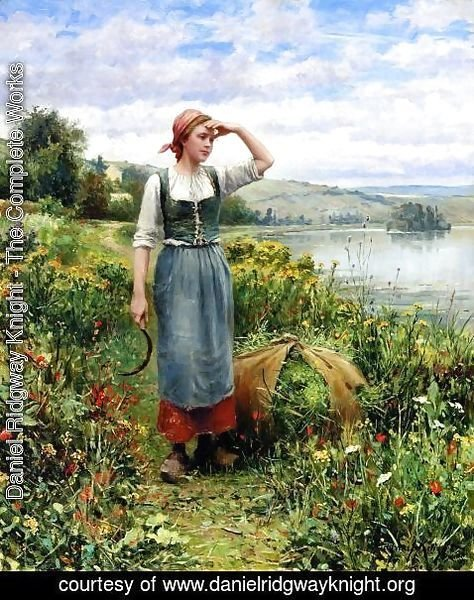 Daniel Ridgway Knight - A Field Of Flowers