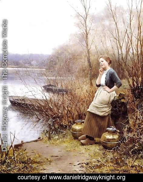 Daniel Ridgway Knight - A Lovely Thought