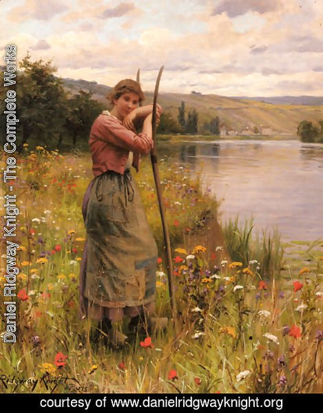 Daniel Ridgway Knight - A Moment Of Rest