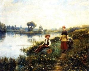 Daniel Ridgway Knight - A Passing Conversation