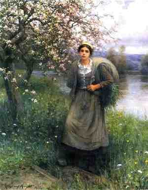 Daniel Ridgway Knight - Apple Blossoms In Normandy