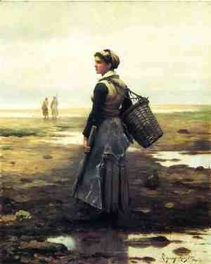 Daniel Ridgway Knight - Clamming