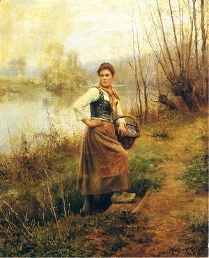 Daniel Ridgway Knight - Country Girl