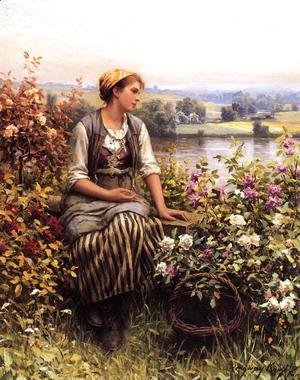 Daniel Ridgway Knight - Daydreaming