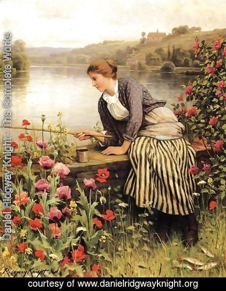 Daniel Ridgway Knight - Fishing2