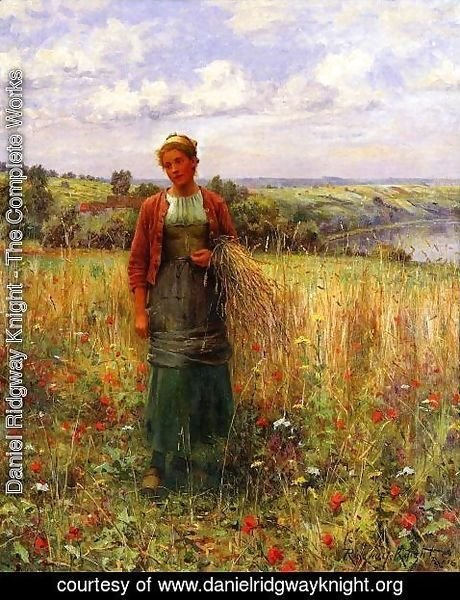 Daniel Ridgway Knight - Gathering Wheat