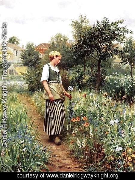 Daniel Ridgway Knight - In The Garden
