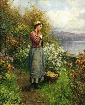 Daniel Ridgway Knight - Julia On The Terrace