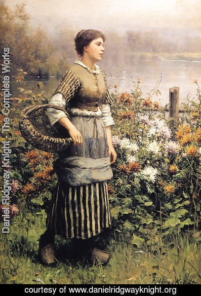 Daniel Ridgway Knight - Maid Among The Flowers