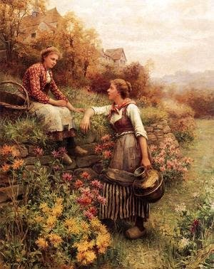 Daniel Ridgway Knight - Marie And Diane