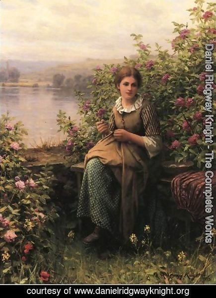 Daniel Ridgway Knight - Mending