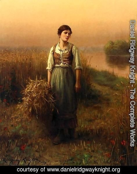 Daniel Ridgway Knight - Normandy Maid