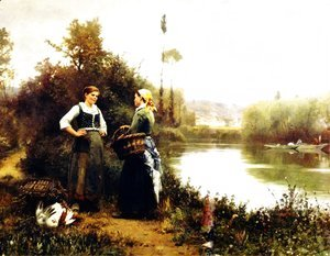 Daniel Ridgway Knight - On The Way To Market