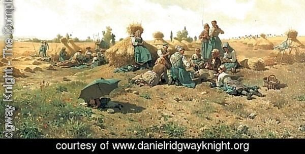 Peasants Lunching In A Field