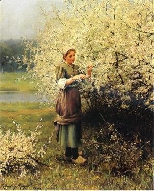 Daniel Ridgway Knight - Spring Blossoms