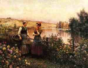 Daniel Ridgway Knight - Stopping For Conversation