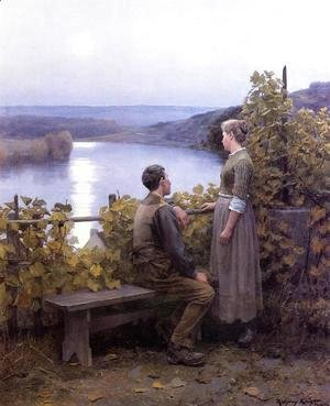 Daniel Ridgway Knight - Summer Evening