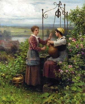 Daniel Ridgway Knight - The Conversation