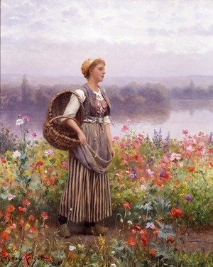 Daniel Ridgway Knight - The Flower Girl