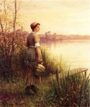 Daniel Ridgway Knight - The Golden Sunset