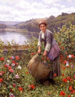 Daniel Ridgway Knight - The Grass Cutter