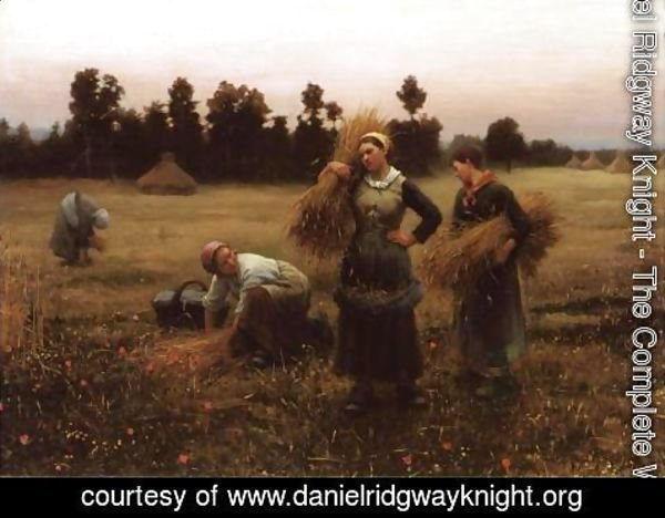 Daniel Ridgway Knight - The Harvesters