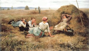 Daniel Ridgway Knight - The Harvesters Resting