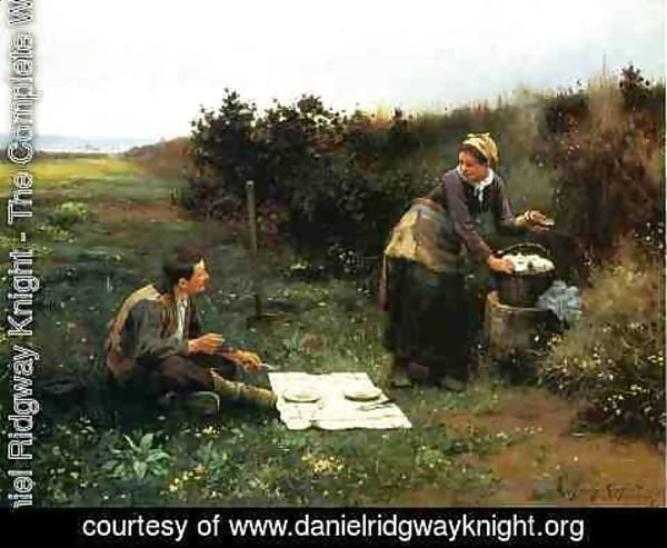 Daniel Ridgway Knight - The Honeymoon Breakfast
