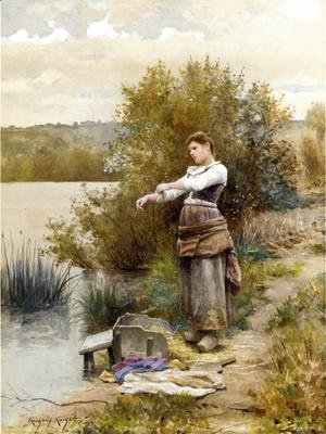 Daniel Ridgway Knight - The Laundress