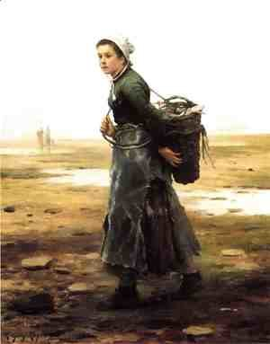 Daniel Ridgway Knight - The Oyster Gatherer